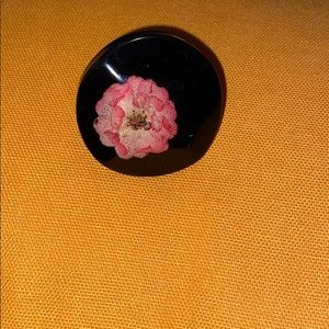 Funky uneven shaped flower ring